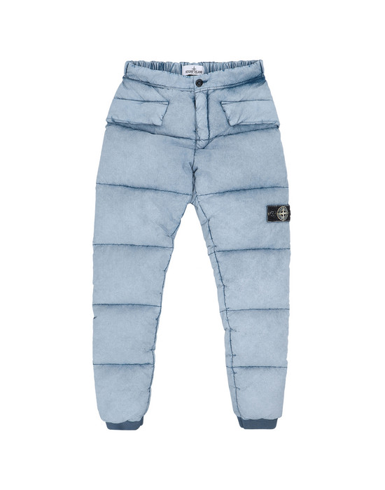 Pants 30438 TELA NYLON DOWN WITH DUST COLOR FROST FINISH STONE ISLAND JUNIOR - 0