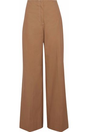 ELIZABETH AND JAMES Maslin cotton-twill wide-leg pants