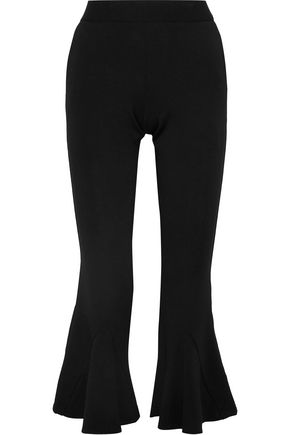 W118 by WALTER BAKER Jani cropped stretch-cady kick-flare pants