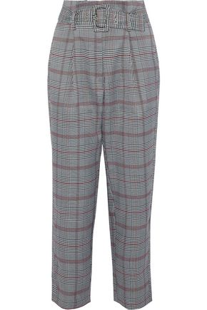 W118 by WALTER BAKER Ellen cropped Prince of Wales checked woven tapered pants