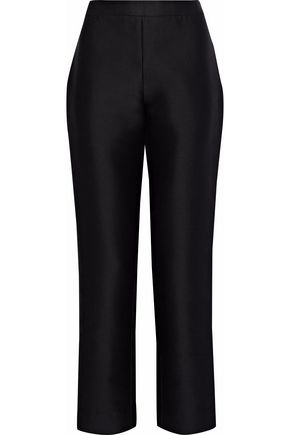CAROLINA HERRERA Cotton and silk-blend twill straight-leg pants