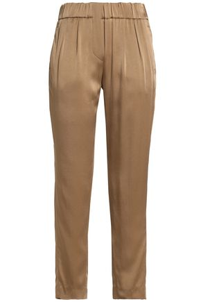 BRUNELLO CUCINELLI Satin slim-leg pants