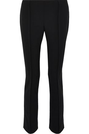 CAROLINA HERRERA Wool-blend twill slim-leg pants