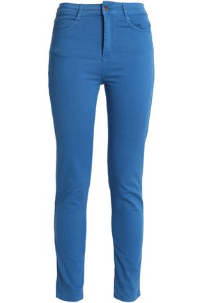 VANESSA BRUNO ATHE' Cotton-blend twill skinny pants