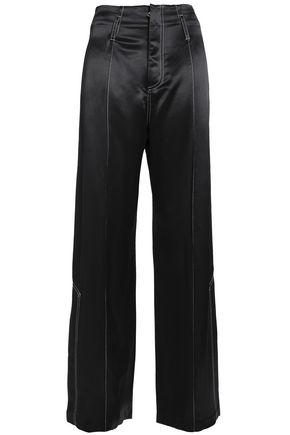 BEAUFILLE Satin-crepe wide-leg pants