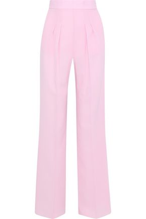 CHRISTOPHER KANE Wool-crepe wide-leg pants