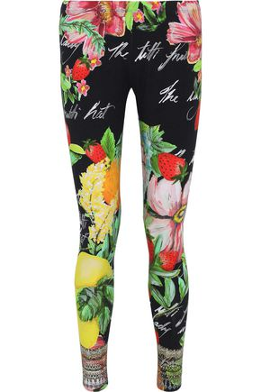 CAMILLA Call Me Carmen embellished floral-print stretch-modal leggings