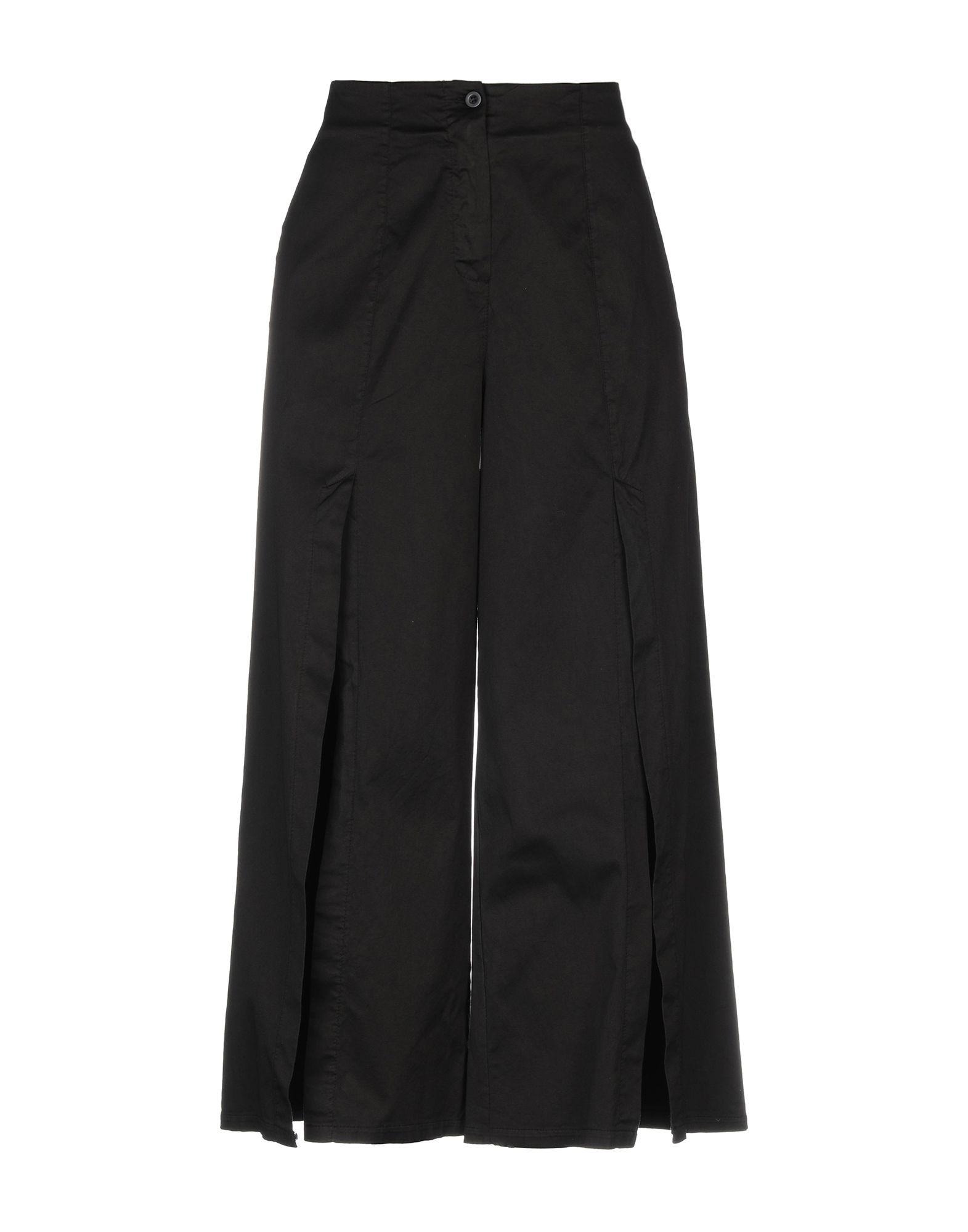 《セール開催中》PAOLO CASALINI レディース パンツ ブラック 40 100% コットン