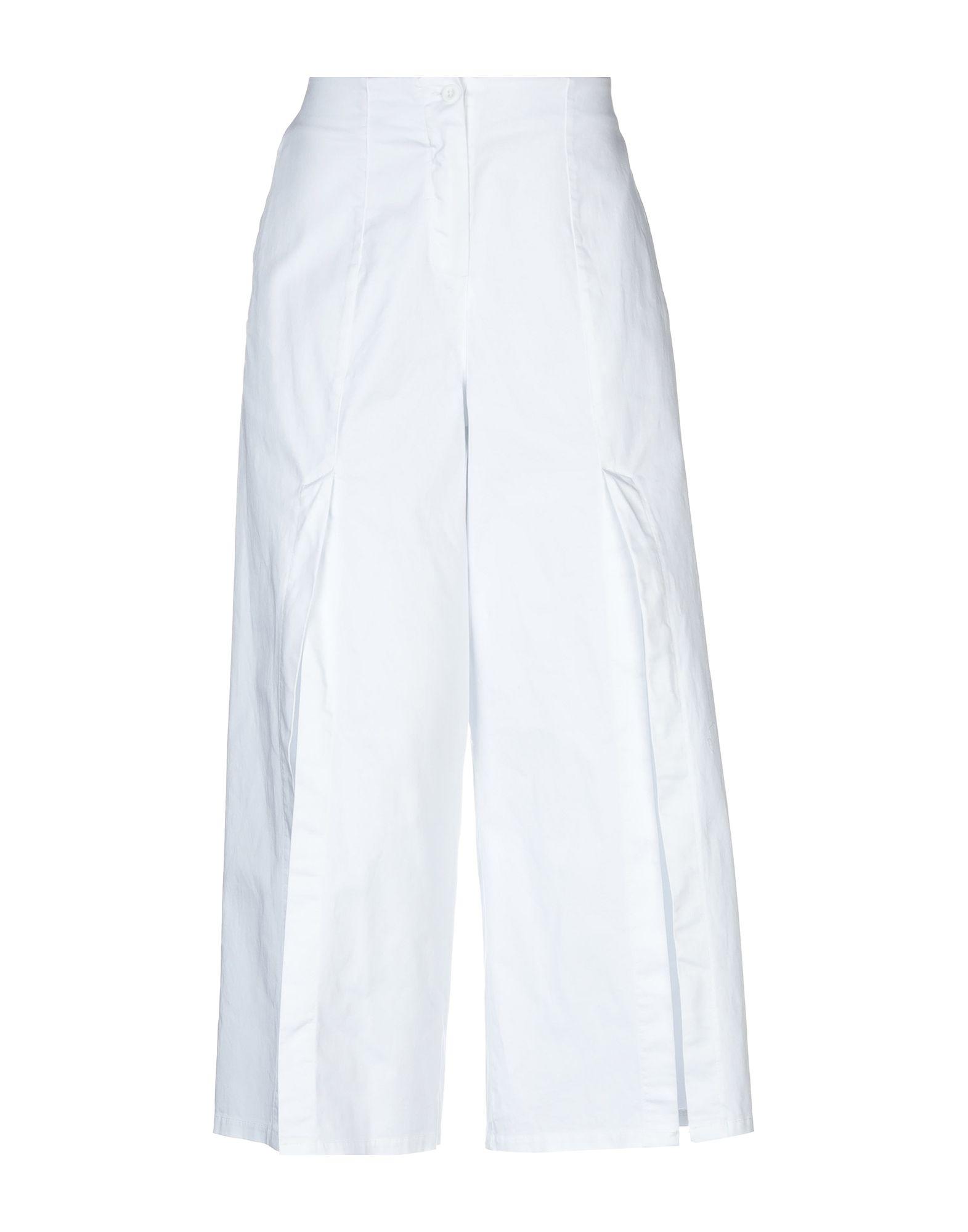 《セール開催中》PAOLO CASALINI レディース パンツ ホワイト 40 100% コットン