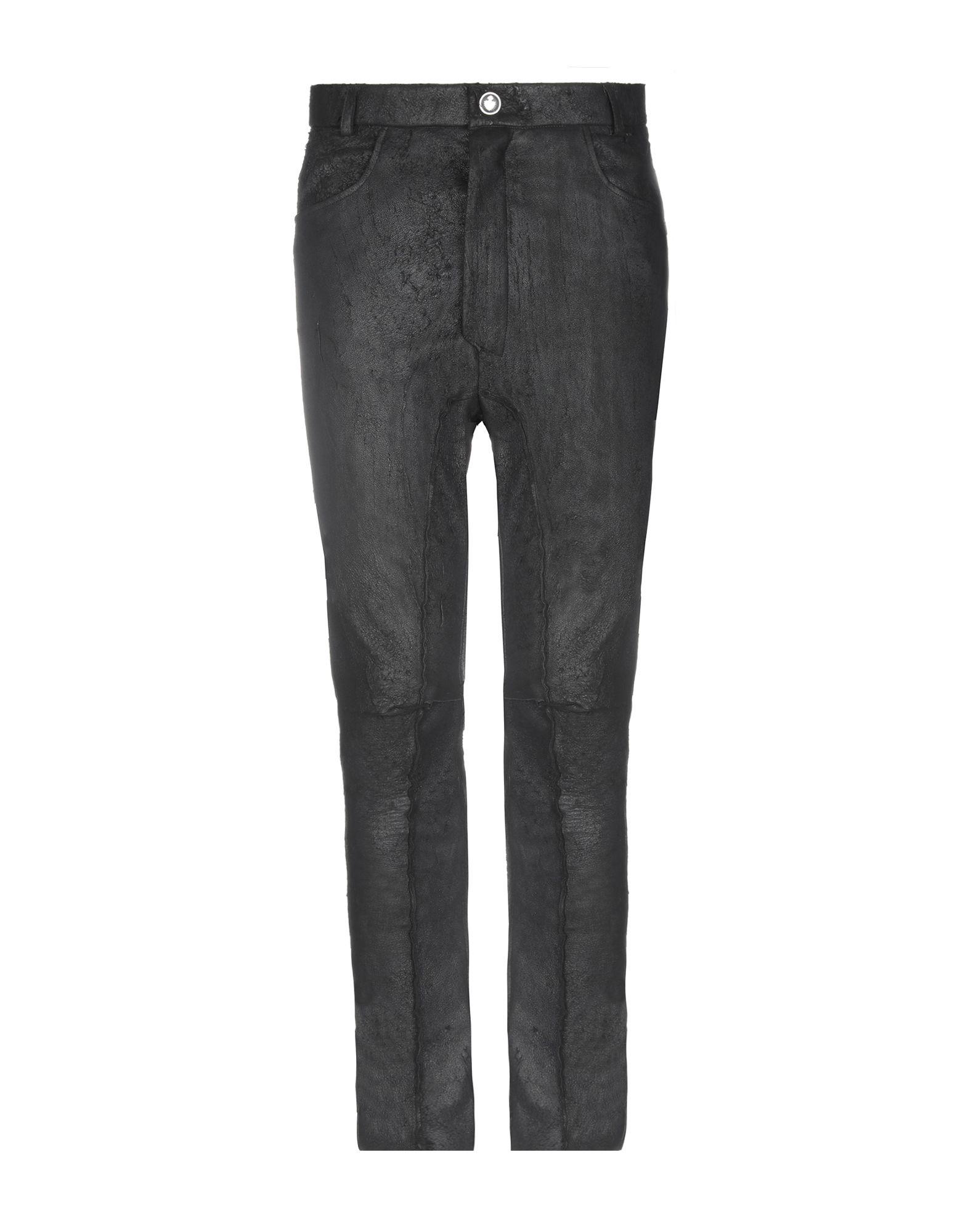 《送料無料》NOSTRASANTISSIMA メンズ パンツ ブラック 46 革