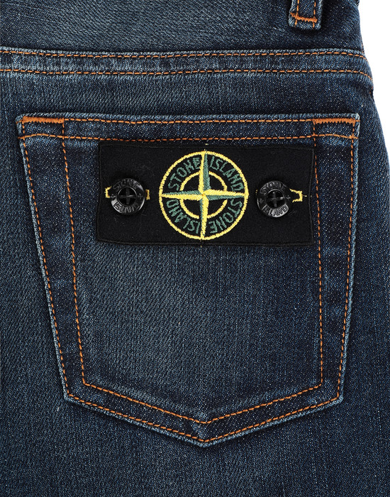 13241227ut - PANTS - 5 POCKETS STONE ISLAND JUNIOR