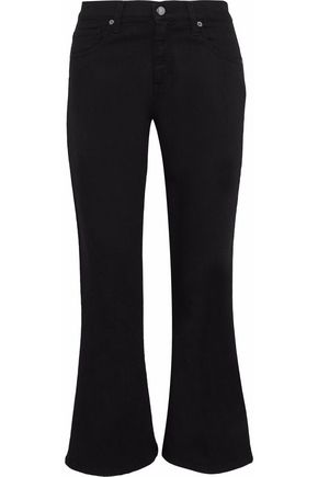 IRIS & INK Cary mid-rise kick flare jeans