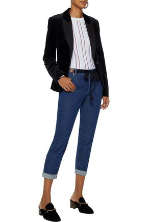 ALTUZARRA Tie-front cropped mid-rise slim-leg jeans