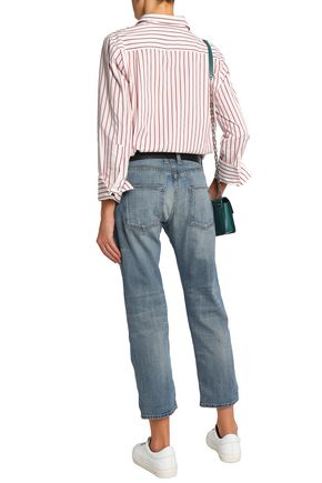 CURRENT/ELLIOTT Cropped low-rise straight-leg jeans