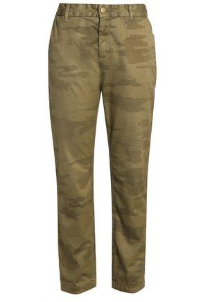 CURRENT/ELLIOTT Cotton tapered pants