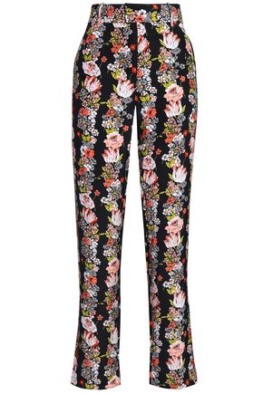 EQUIPMENT Floral-print silk crepe de chine straight-leg pants