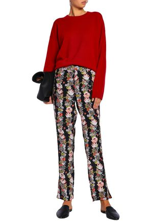 EQUIPMENT Floral-print silk crepe de chine straight-leg pants