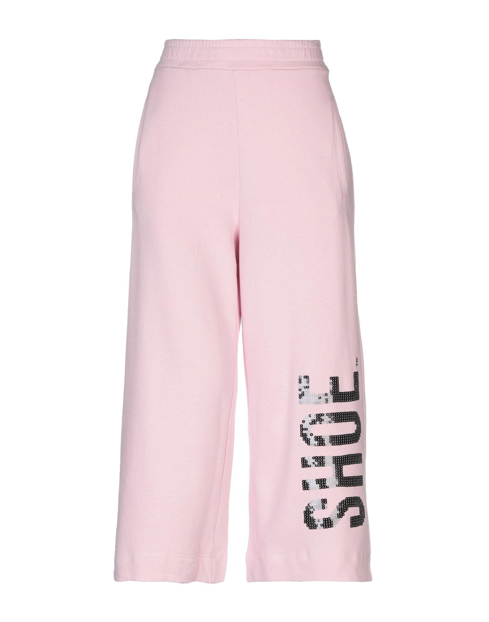 《送料無料》SHOESHINE レディース カプリパンツ ピンク XS コットン 100%
