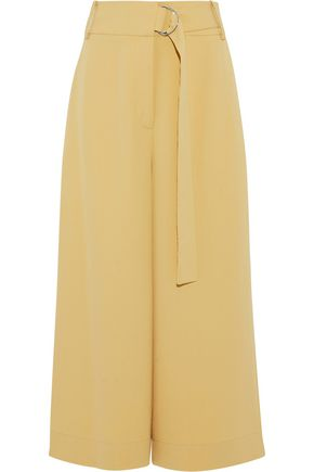 TIBI Belted woven culottes
