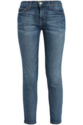 CURRENT/ELLIOTT Cropped mid-rise straight-leg jeans