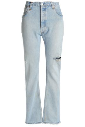 RE/DONE by LEVI'S Distressed high-rise bootcut jeans