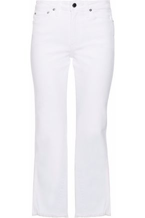 ALICE + OLIVIA Perfect high-rise kick-flare jeans