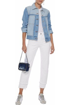 3x1 Petal Higher Ground cropped distressed slim boyfriend jeans