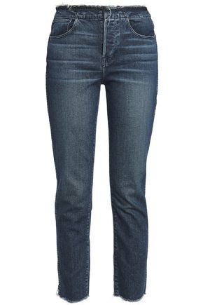 3x1 W4 Shelter frayed high-rise slim-leg jeans