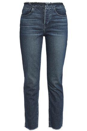 3x1 W4 Shelter frayed high-rise slim-leg jeans
