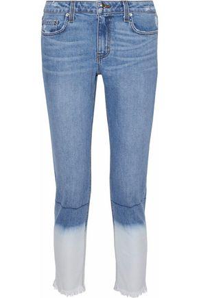 DEREK LAM Mila cropped dégradé mid-rise slim-leg jeans