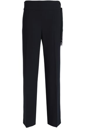 ELIE TAHARI Haidee lace-up crepe straight-leg pants