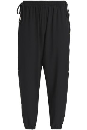 ELIE TAHARI Heather lace-up crepe track pants