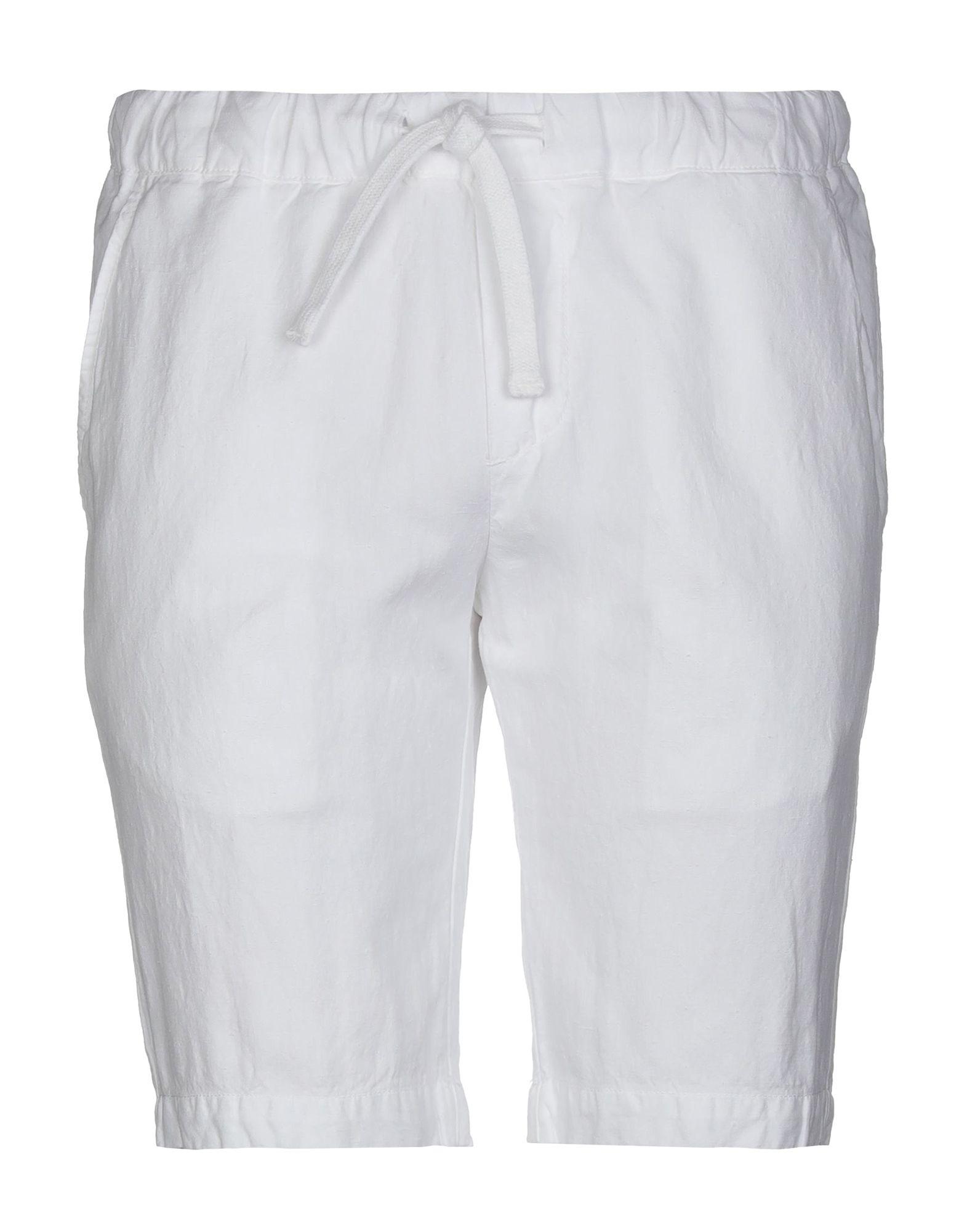 《期間限定セール開催中!》ORIGINAL VINTAGE STYLE メンズ バミューダパンツ ホワイト 46 コットン 54% / 麻 46%
