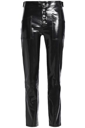 RTA Patent-leather straight-leg pants