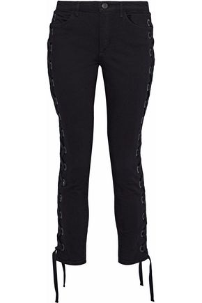 3x1 Lacy lace-up mid-rise skinny jeans