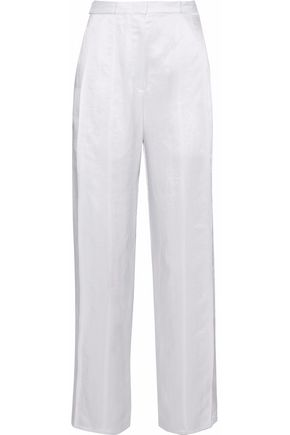 DEREK LAM Satin-crepe straight-leg pants