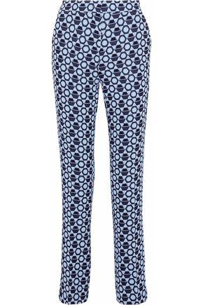 DEREK LAM Jacquard straight-leg pants