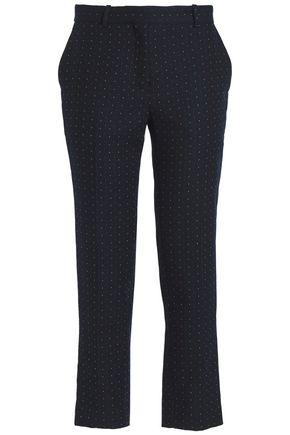 SANDRO Elyse twill-jacquard straight-leg pants