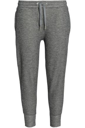 ZOE KARSSEN Metallic cotton-blend track pants