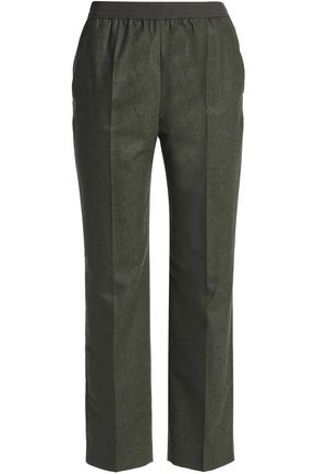 AGNONA Mélange wool-blend straight-leg pants