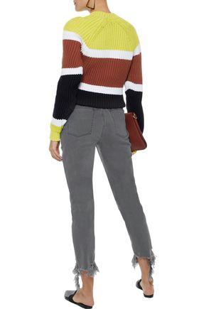 M.I.H JEANS Mimi cropped distressed high-rise slim-leg jeans