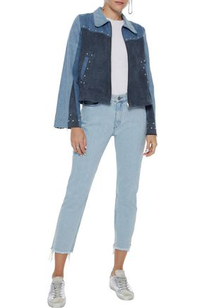 M.I.H JEANS Niki cropped distressed mid-rise slim-leg jeans