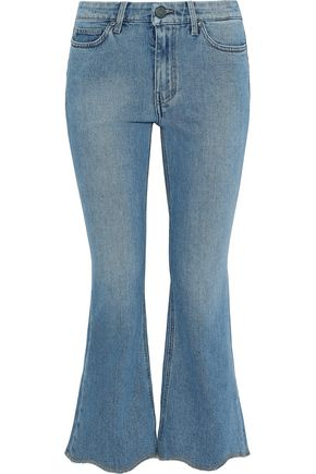 M.I.H JEANS Marty frayed low-rise kick-flare jeans