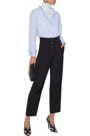 STELLA McCARTNEY Wool-twill straight-leg pants