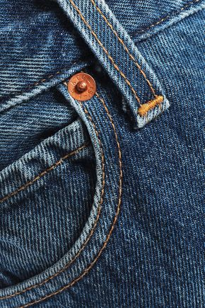 RE/DONE with LEVI'S Distressed high-rise straight-leg jeans
