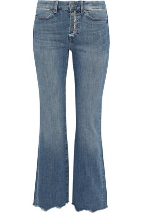 M.I.H JEANS Lou distressed mid-rise kick-flare jeans