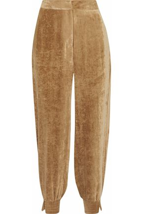 STELLA McCARTNEY Velvet tapered pants