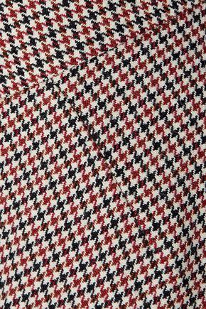 STELLA McCARTNEY Houndstooth wool kick-flare pants