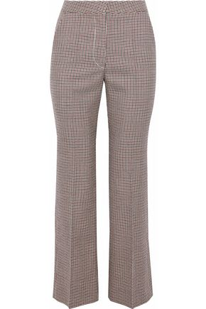 STELLA McCARTNEY Houndstooth wool kick-flare pants