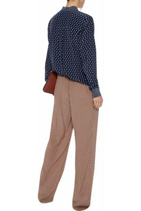 STELLA McCARTNEY Printed silk wide-leg pants
